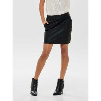 Base Ladies Only Faux Leather Skirt - Black